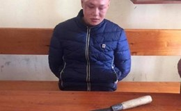 Bắt đối tượng dùng dao gây thương tích cho một chiến sĩ công an