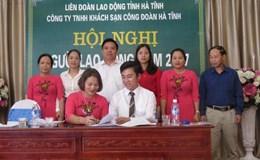 Cty Khách sạn Công đoàn Hà Tĩnh tổ chức Hội nghị người lao động năm 2017