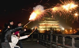 Bắc Kinh giảm giàn bắn pháo hoa trong đêm giao thừa
