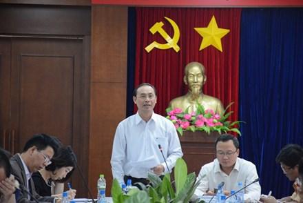 Thứ trưởng Bộ GTVT Lê Đình Thọ phát biểu tại buổi họp