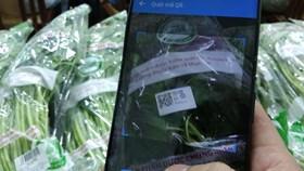 Người dân TPHCM sẽ truy xuất nguồn gốc rau quả bằng điện thoại thông minh