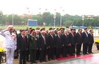 Lãnh đạo Đảng, Nhà nước viếng Chủ tịch Hồ Chí Minh và các anh hùng, liệt sĩ