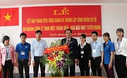 CĐ Dệt may Việt Nam: Kết nạp thêm 390 đoàn viên công đoàn