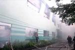 Video cháy kinh hoàng thiêu rụi công ty sản xuất chỉ