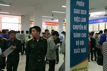 Phiên giao dịch việc làm chuyên đề dành cho Bộ đội xuất ngũ