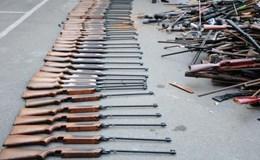 Hải Phòng: Tiêu hủy hàng trăm khẩu súng các loại