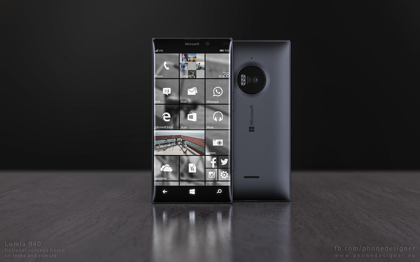 Mẫu Lumia 940 đẹp mê mẩn khiến dân công nghệ muốn có trên tay ngay lập tức