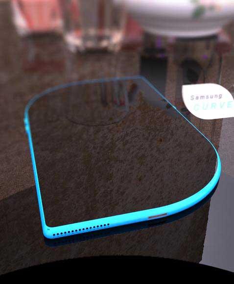 Ngắm mẫu smartphone Samsung thiết kế cực độc hình chiếc lá siêu lòng chị em