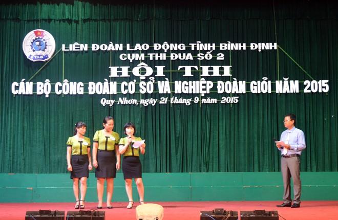 LĐLĐ Bình Định: Cô giáo mầm mon dẫn đầu cuộc thi cán bộ CĐCS giỏi