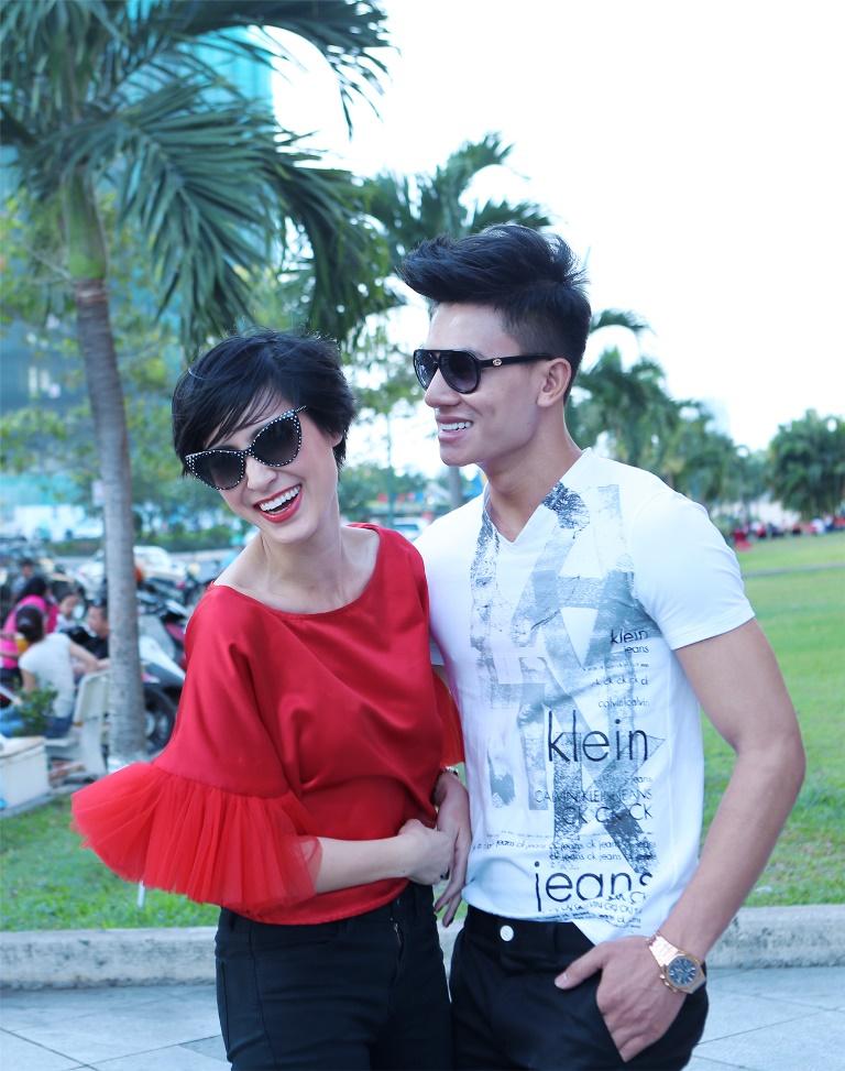 Trai đẹp Hiếu Nguyễn ngày càng thân mật Kathy Uyên