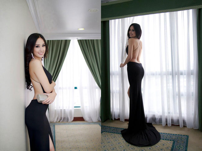 Hoa hậu Mai Phương Thúy nghiện mốt khoe lưng trần *** đi sự kiện