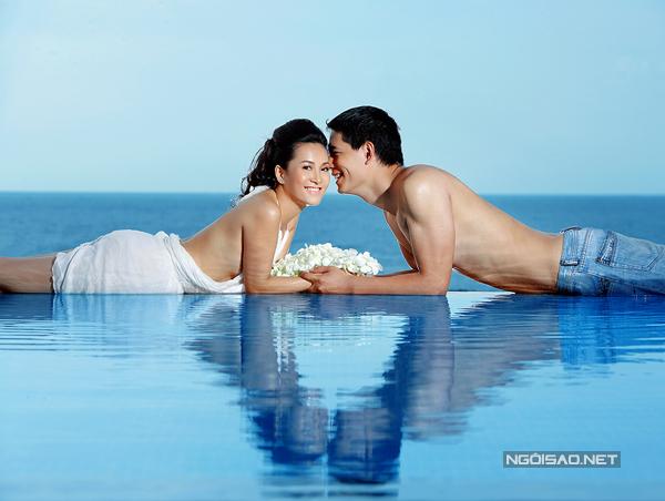 Ảnh cưới nóng bỏng chưa từng công bố của siêu mẫu Bình Minh
