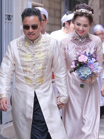 Victor Vũ và Đinh Ngọc Diệp bí mật đính hôn sáng nay