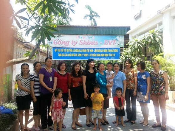 Quỹ Bảo trợ Trẻ em CĐVN:  Trao quà cho nhà trẻ Cty TNHH ShinTB BVT Hải Dương