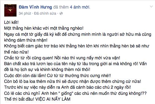 """Hạ màn khẩu chiến, Đàm Vĩnh Hưng gọi Quang Lê là """"thằng hèn"""""""