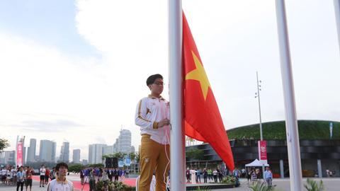 Đoàn Thể thao Việt Nam tổ chức lễ thượng cờ  tại SEA Games 28