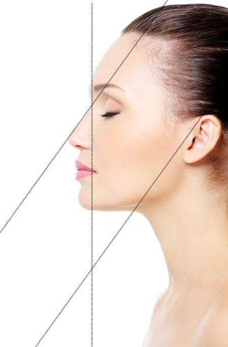 Khuôn mặt đẹp khi nhìn nghiêng cũng phải đạt được những tiêu chuẩn nhất định.