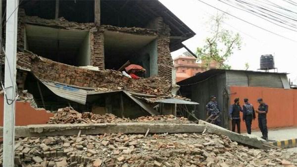 Kinh hoàng sức tàn phá của trận động đất ở Nepal