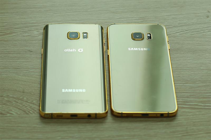 """Galaxy Note 5 và S6 Edge plus mạ vàng long lanh """"đốn tim"""" Sfan"""